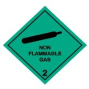 Hazard safety sign - Non Flammable Gas 2 047